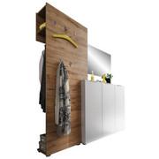 GARDEROBE - Eichefarben/Weiß, Design, Holzwerkstoff (175/190/39cm) - Carryhome
