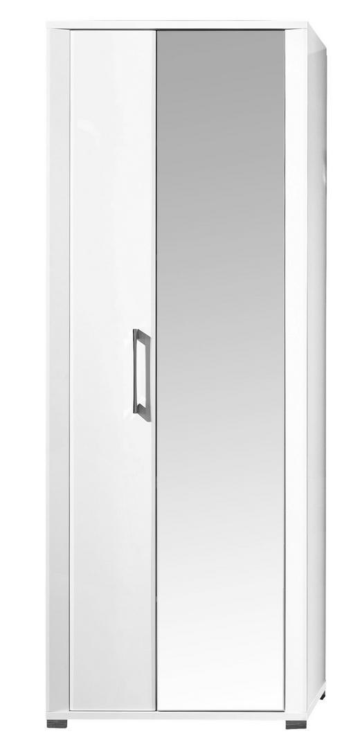 GARDEROBENSCHRANK Weiß - Chromfarben/Weiß, Basics, Glas/Holzwerkstoff (74/200/40cm) - CARRYHOME