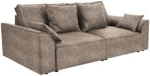 Bigsofa John B: 270 cm - Hellbraun/Schwarz, KONVENTIONELL, Textil (270/87/112cm) - James Wood