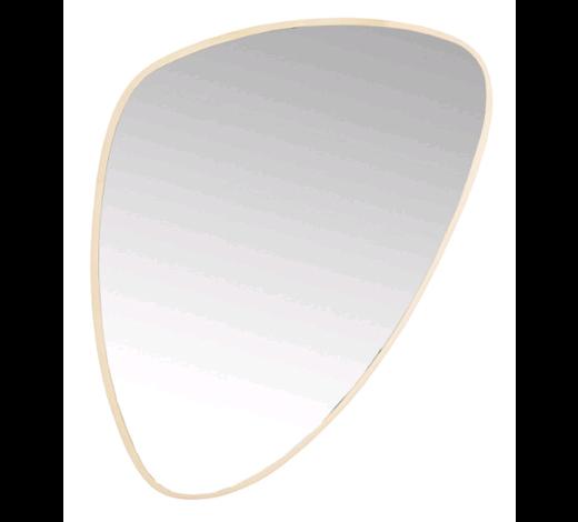 SPIEGEL  - Goldfarben, Design, Glas/Holz (56/83/3,5cm) - Kare-Design