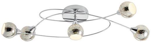 LED-STRAHLER - Chromfarben, Design, Glas/Metall (71/24/15cm) - Novel