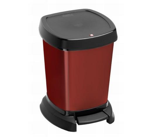 KOŠ KOZMETIČKI - crvena/crna, Konvencionalno, plastika (23,4/21,9/29,5cm) - Homeware