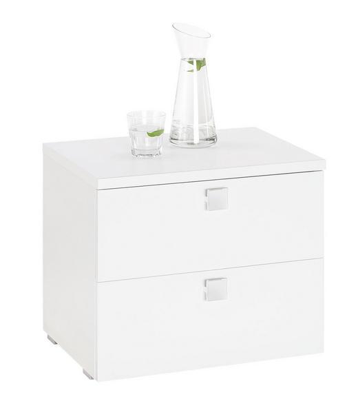 NACHTKÄSTCHEN in Weiß - Chromfarben/Silberfarben, Design, Holzwerkstoff/Kunststoff (51/42/39cm) - Carryhome