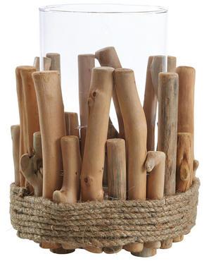 LJUSLYKTA - klar/naturfärgad, Natur, glas/träbaserade material (18/23cm) - Ambia Home
