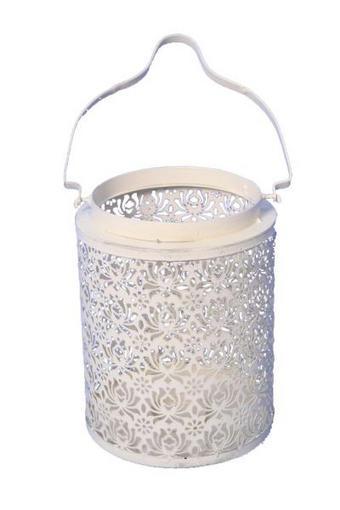 WINDLICHT - Weiß, Metall (20/47/20cm) - AMBIA HOME