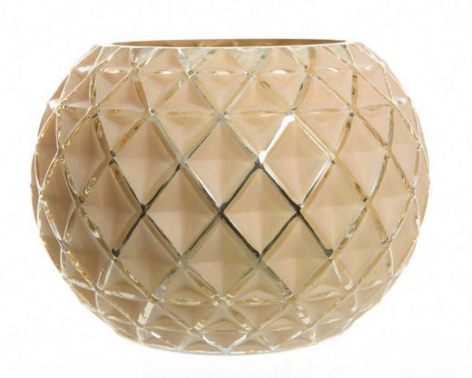 WINDLICHT - Goldfarben, Design, Glas (12/15cm)