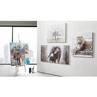 Tiere ÖLGEMÄLDE - Weiß/Grau, LIFESTYLE, Holz/Textil (70/150cm) - Monee
