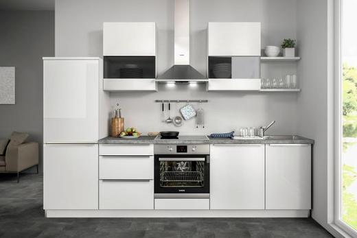 Küchenblock ohne E-Geräte Soft-Close-System, Spüle - Weiß, Design (290,5cm) - SetOne by Musterring