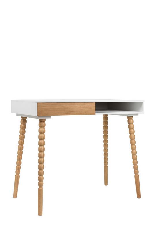 SCHREIBTISCH Weiß - Braun/Weiß, Design, Holz (90/76/50cm)