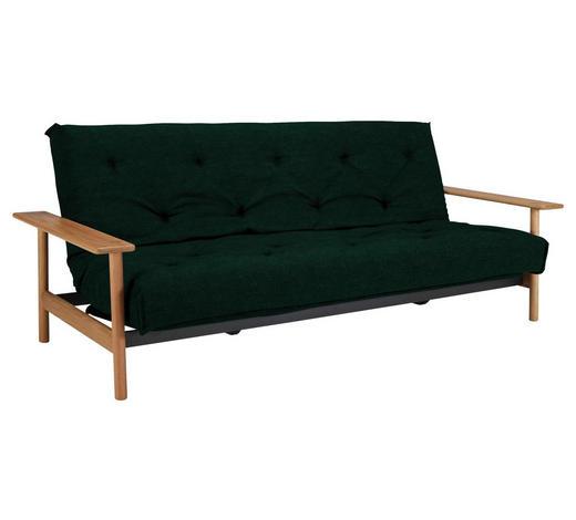 SCHLAFSOFA in Holz, Textil Eichefarben, Dunkelgrün  - Dunkelgrün/Eichefarben, Design, Holz/Textil (230/92/97cm) - Innovation