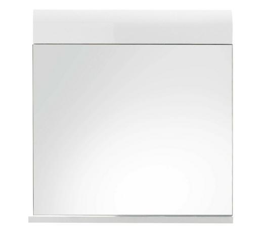 WANDSPIEGEL 60/55/10 cm - Weiß, Design, Glas/Holzwerkstoff (60/55/10cm) - Xora