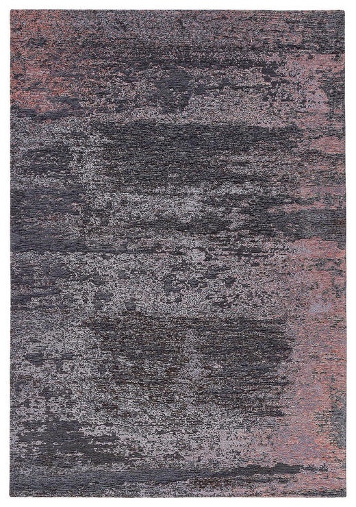 FLACHWEBETEPPICH  68/135 cm  Altrosa, Anthrazit - Anthrazit/Altrosa, Basics, Textil (68/135cm) - Novel