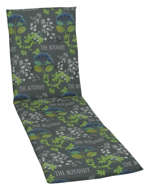 JASTUK ZA LEŽALJKU - siva/zelena, Design, tekstil (190/60/5cm) - Ambia Garden