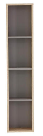 BADEZIMMERREGAL - Eichefarben/Grau, Design, Holzwerkstoff (25/119,6/17cm) - DIETER KNOLL