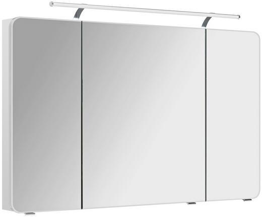 SPIEGELSCHRANK Weiß - Chromfarben/Weiß, KONVENTIONELL, Glas/Holzwerkstoff (120/72/17cm) - Xora