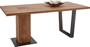 ESSTISCH Kerneiche vollmassiv rechteckig Anthrazit, Eichefarben - Eichefarben/Anthrazit, Design, Holz/Metall (190/95/76cm) - Valnatura