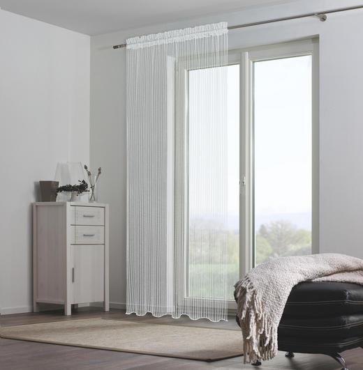 FERTIGVORHANG  transparent  140/245 cm - Weiß, Basics, Textil (140/245cm) - Ambiente