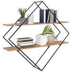 WANDREGAL 107/107/26 cm  - Dunkelgrau/Akaziefarben, Trend, Holz/Metall (107/107/26cm) - Ambia Home