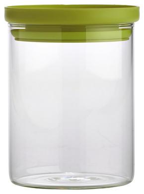 FÖRVARINGSBURK - klar/grön, Basics, glas/plast (9,5/11,7cm) - Homeware