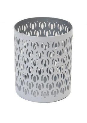 VÄRMELJUSHÅLLARE - vit/silver, Klassisk, metall (8/10cm) - Ambia Home