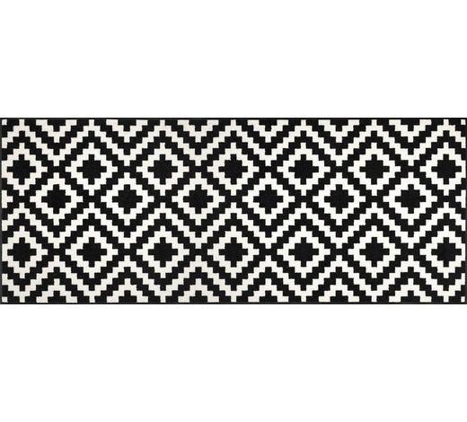 TEPPICH  75/190 cm  Schwarz, Weiß   - Schwarz/Weiß, Basics, Kunststoff/Textil (75/190cm) - Esposa