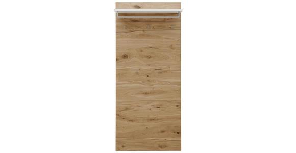 GARDEROBENPANEEL - Eichefarben/Weiß, Design, Holz/Holzwerkstoff (80/183/27cm) - Dieter Knoll