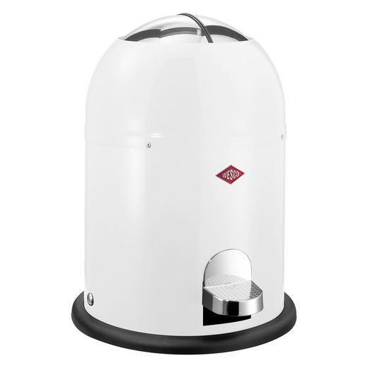ABFALLSAMMLER 6 L - Schwarz/Weiß, Basics, Kunststoff/Metall (36/30/23,5cm) - Wesco