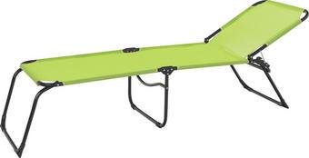 TRONOŽNA LEŽALJKA - zelena/crna, Design, metal/tekstil (208/41/58cm)