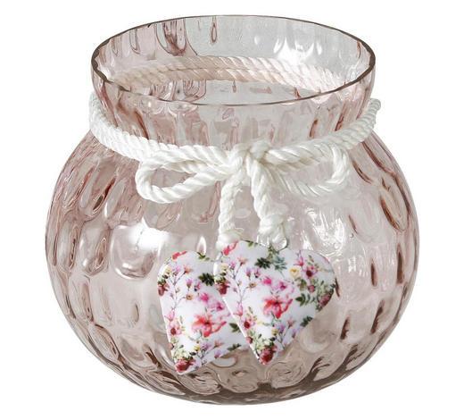 WINDLICHT - Hellrosa, Trend, Glas/Kunststoff (15/14cm)