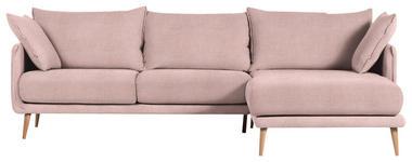 WOHNLANDSCHAFT in Textil Rosa  - Naturfarben/Rosa, Design, Holz/Textil (270/160cm) - Carryhome