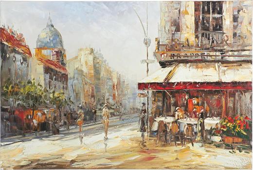 Städte BILD - Multicolor, LIFESTYLE, Holz/Textil (80/120cm) - Monee