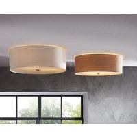 DECKENLEUCHTE - Taupe, Design, Textil/Metall (47,5cm) - NOVEL