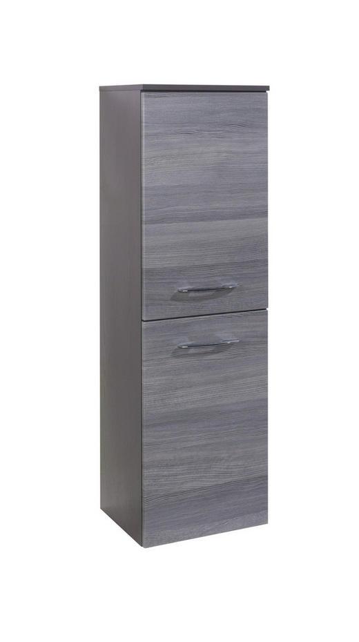 MIDISCHRANK Eichefarben, Graphitfarben - Eichefarben/Silberfarben, Design, Holzwerkstoff/Metall (40/130/35cm) - Carryhome