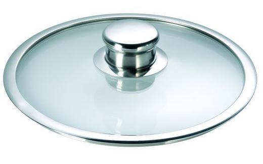 DECKEL  24 cm - Klar/Transparent, Glas/Metall (24cm) - SCHULTE UFER