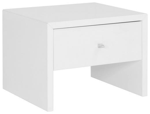 NACHTKÄSTCHEN Hochglanz Weiß - Chromfarben/Weiß, Design, Holzwerkstoff (45/33/40cm) - Xora