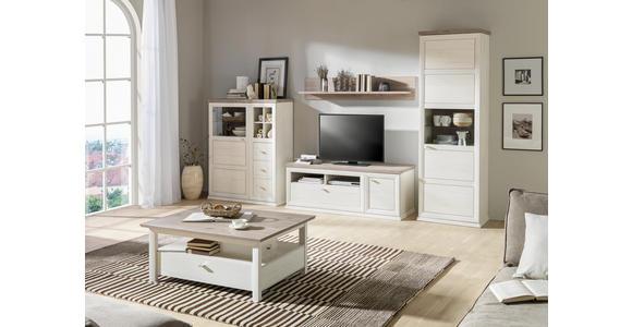 COUCHTISCH rechteckig Grau, Weiß  - Weiß/Grau, Design (110/80/45cm) - Hom`in