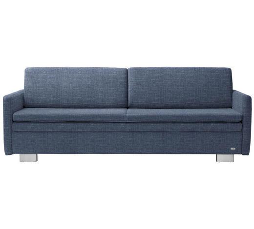 SCHLAFSOFA in Textil Blau  - Blau, KONVENTIONELL, Textil/Metall (216/84/92cm) - Sedda