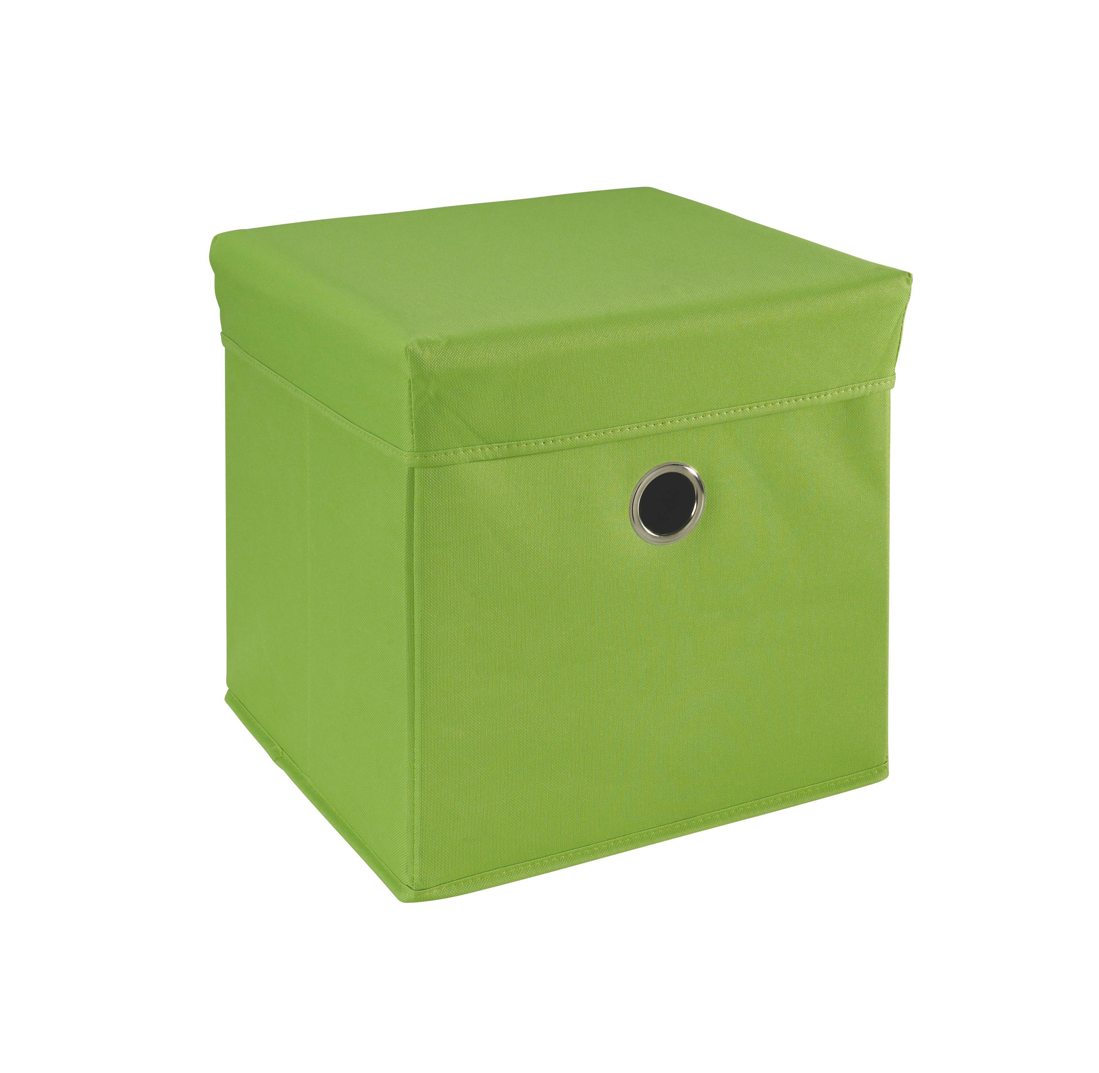 LEKSAKSLÅDA - grön, Basics, trä/textil (32/32/32cm) - MY BABY LOU