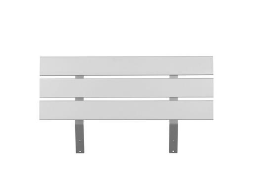 KOPFTEIL  100/61 cm Weiß - Weiß, Design (100/61cm) - Carryhome