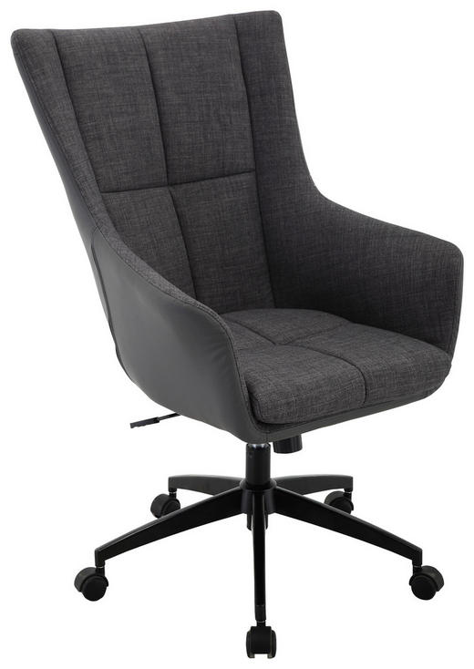 KANCELÁŘSKÉ KŘESLO - šedá/černá, Design, kov/textil (69/112/74cm) - Xora