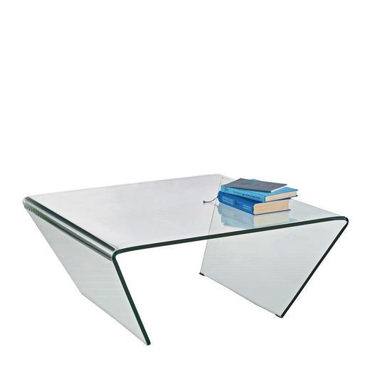 COUCHTISCH rechteckig Transparent - Transparent, Design, Glas (80/80/35cm) - Novel