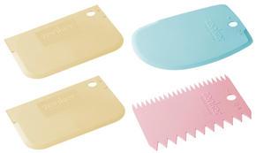 DEGSKRAPA - creme/blå, Basics, plast (22,7/11,5/4,0cm)
