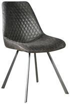 STOL, kovina, tekstil siva - siva, Design, kovina/tekstil (46/86/61cm) - Hom`in