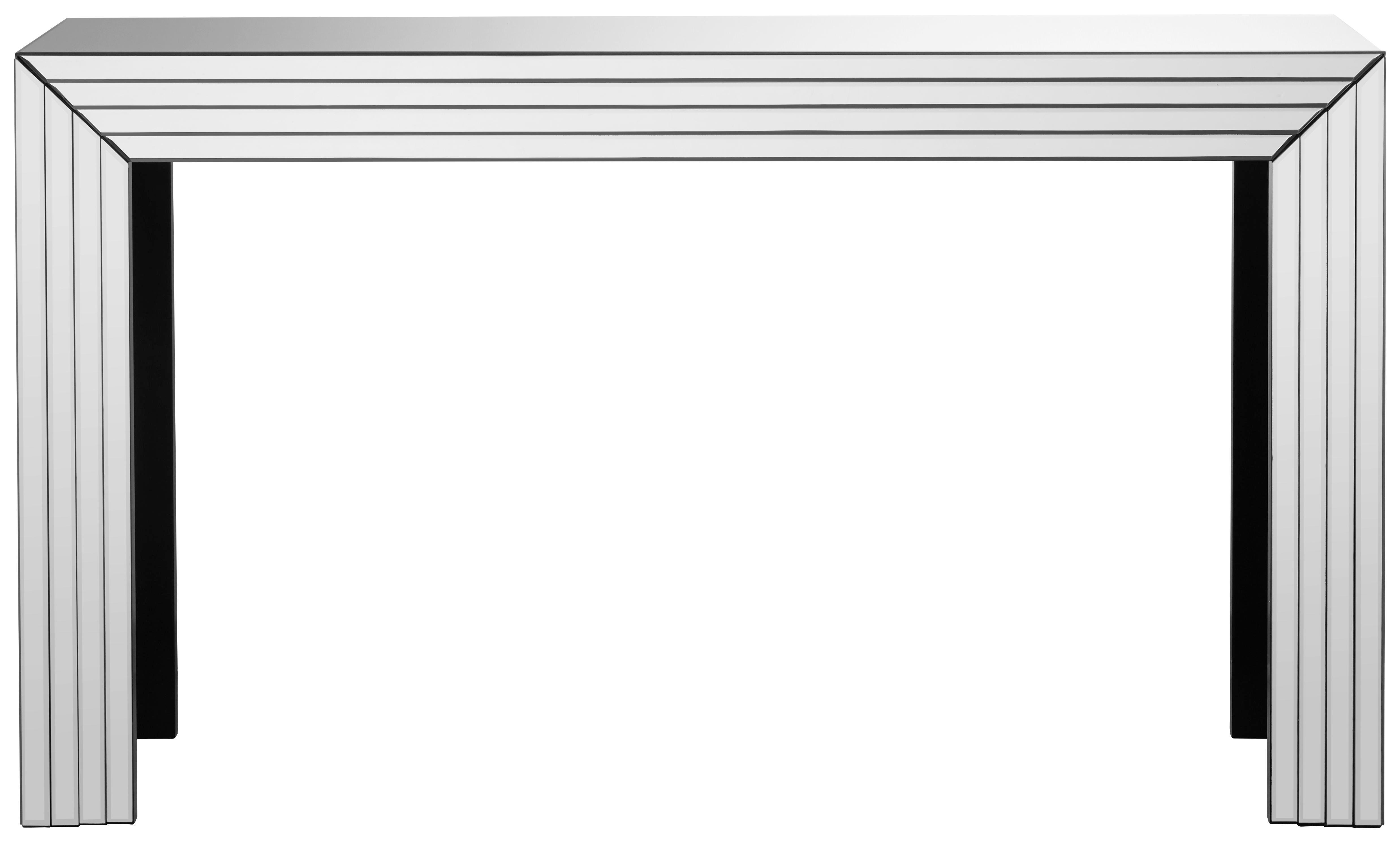 KONSOLE Silberfarben - Silberfarben, Design, Glas (151/86,5/41cm) - XORA