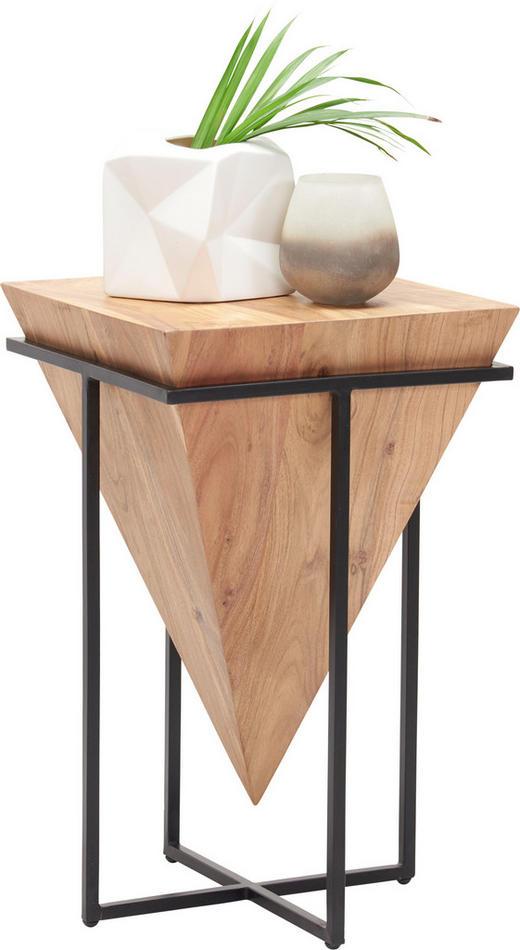BEISTELLTISCH in Holz, Metall 31/31/45 cm - Schwarz/Naturfarben, Trend, Holz/Metall (31/31/45cm) - Ambia Home