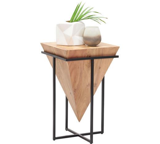 BEISTELLTISCH in Naturfarben, Schwarz  - Schwarz/Naturfarben, Trend, Holz/Metall (31/31/45cm) - Ambia Home