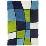 Hochflor Teppich Blau/Grün Fancy 160x230 cm - Blau/Grün, KONVENTIONELL, Textil (160/230cm) - Luca Bessoni
