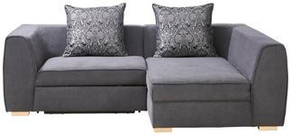 WOHNLANDSCHAFT in Textil Hellgrau, Dunkelgrau  - Dunkelgrau/Hellgrau, Design, Holz/Textil (264/160cm) - Carryhome