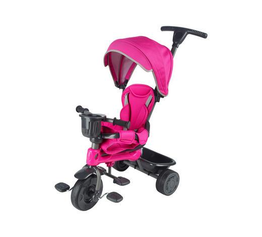 Dreirad - Pink/Dunkelgrau, Basics, Kunststoff/Textil (67/48/98cm) - Ben'n'jen
