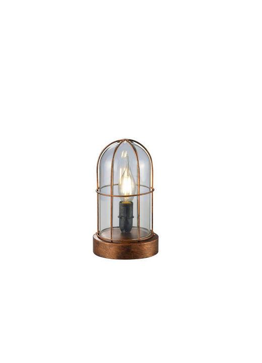 TISCHLEUCHTE - Kupferfarben, Basics, Glas/Metall (12,5/22cm)